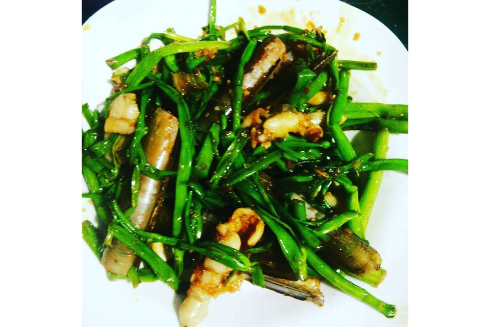 Sauteed Nail Snail Vegetable