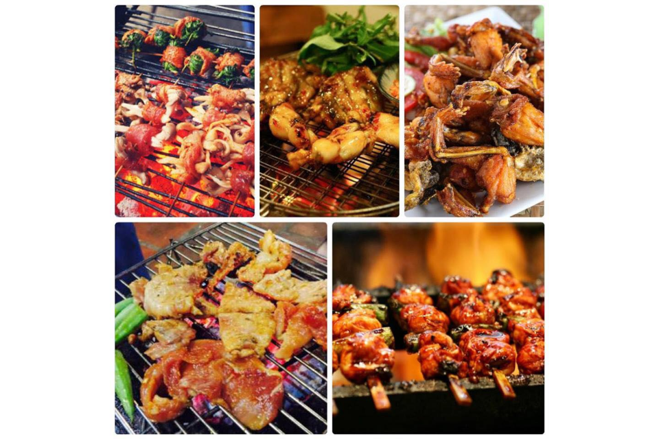 Barbecue, Grilled Frog, Skewers