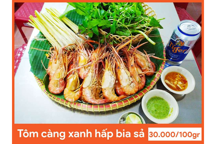 Steamed Blue Crayfish With Lemongrass Beer