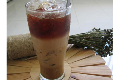 Milk ice coffe