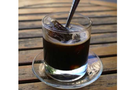 Black coffee with ice