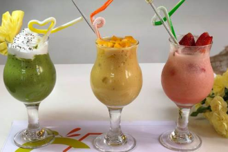 Types of Smoothies (Butter, Mango, Strawberry)
