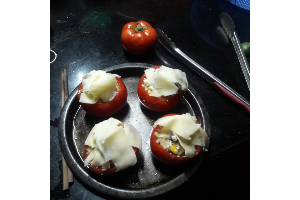 Baked Tomato Cheese