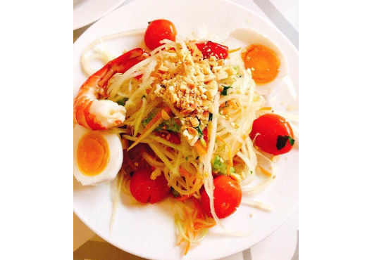 Song Tam salad with freshwater prawn