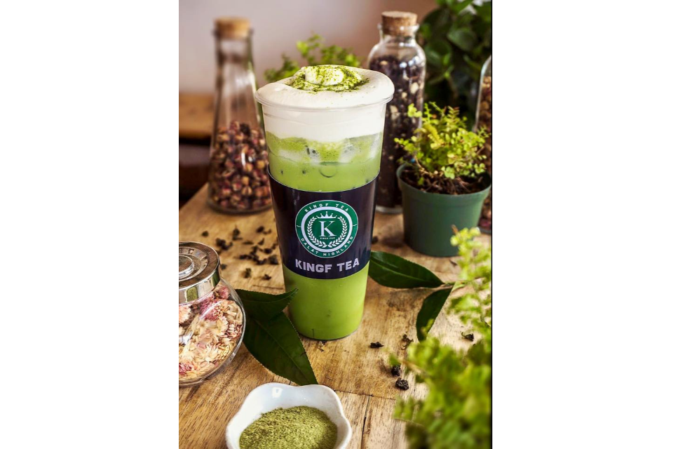Tea Matcha Milk Foam