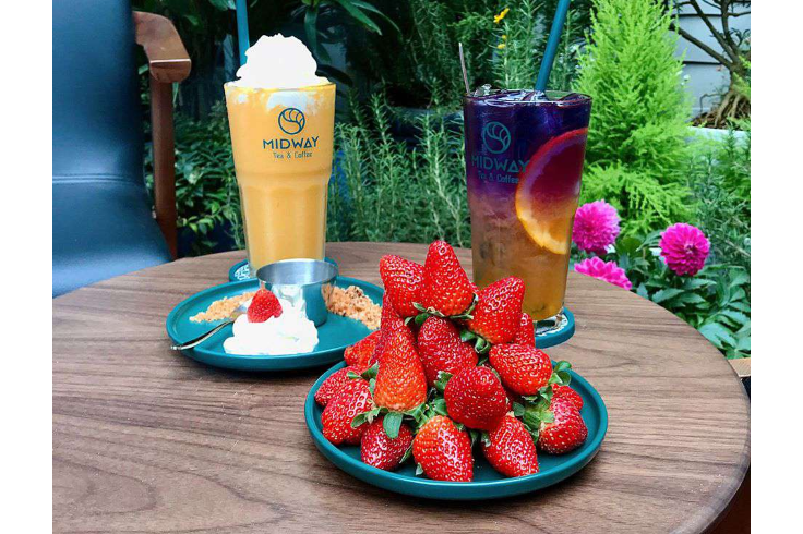 Strawberry, Assorted Smoothies