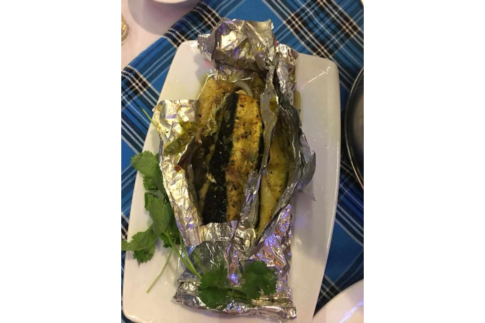 Grilled fish foil