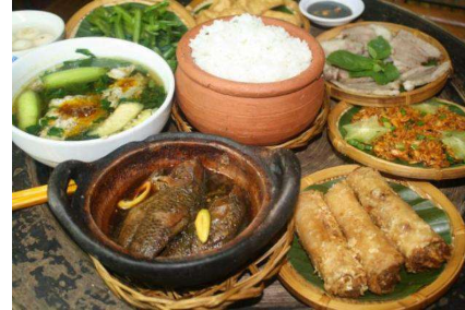 Rice Nieu, Braised Fish, Bo Spring, Boiled Meat, Soup