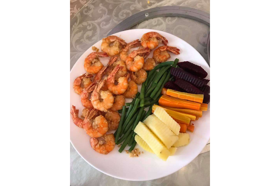 Shrimp, Vegetables Swipe