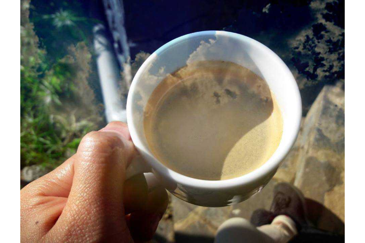 Hot milk coffee