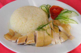 Rice Boiled chicken
