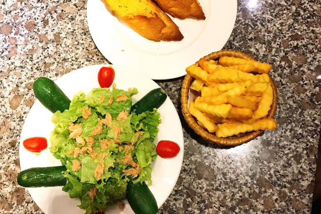 Salad, French Fries