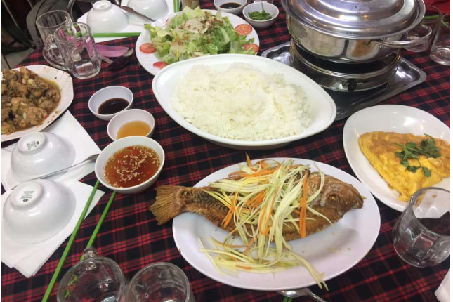 Menu 1 (Fried Fried Fish, Meat Kho, Soup, Salad)
