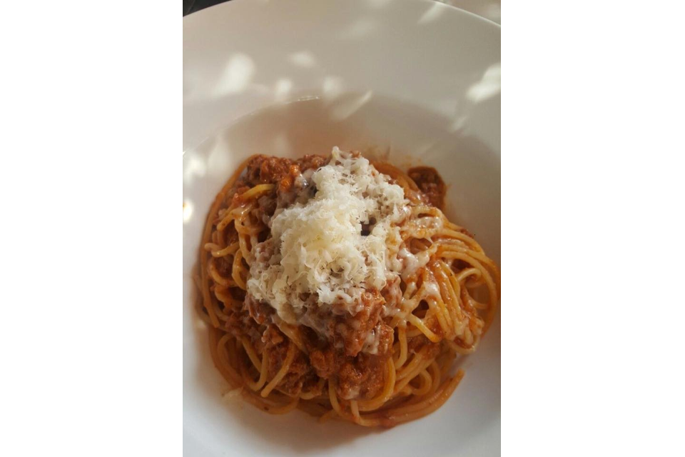 Spaghetti Beef With Cheese