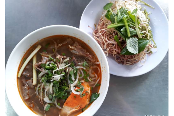 Beef Noodle Soup And Grilled Pork