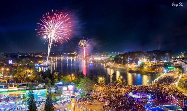 Announcing 3 fireworks display points in the area on the occasion of Lunar New Year 2019