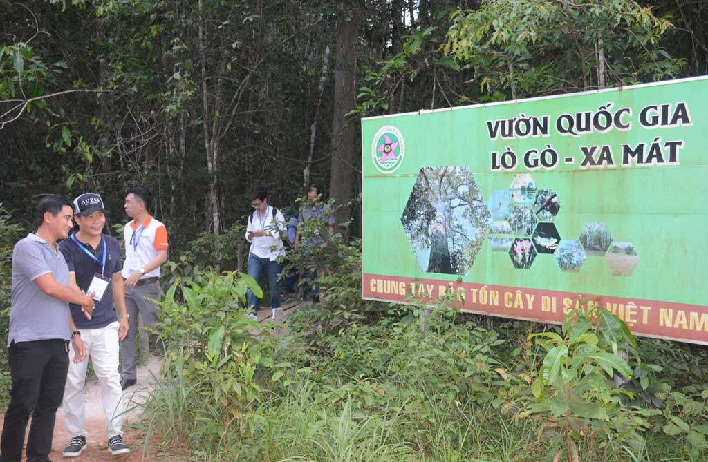 Enterprises surveying the Lo Go - Xa Mat National Park tourist resort