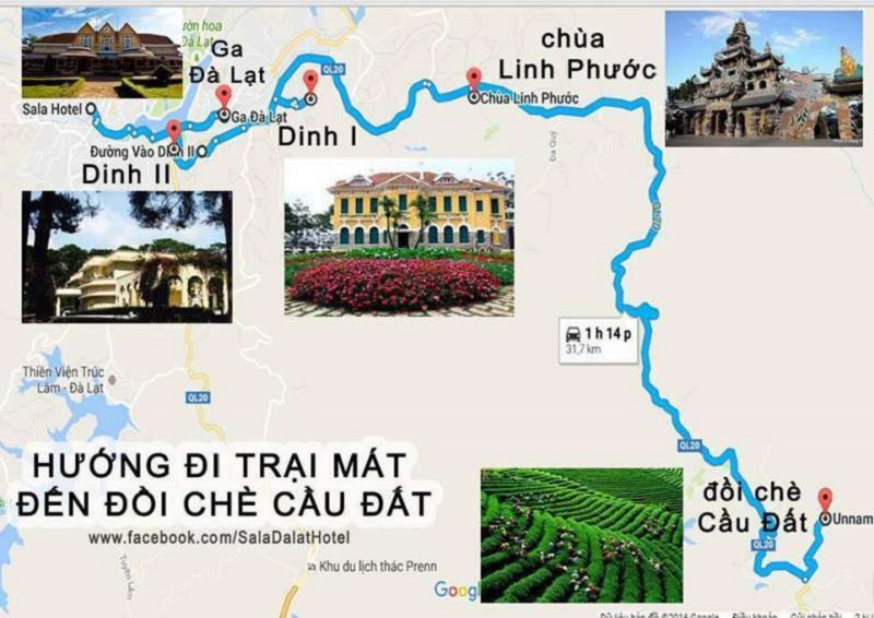 Dalat Tour Map 2019 - Using the most accurate GPS technology